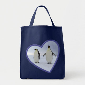 Emperor Penguin Grocery Tote Bag