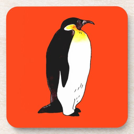 Emperor penguin beverage coaster
