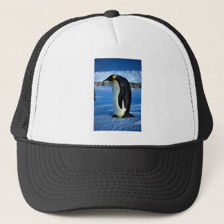 Emperor penguin by moonlight trucker hat