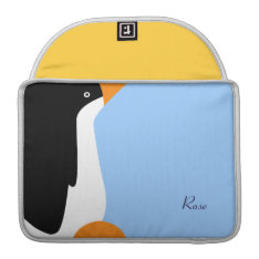 Emperor Penguin Cartoon Macbook Pro Sleeve 13