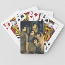 Emperor Penguin chicks in creche, Aptenodytes Playing Cards