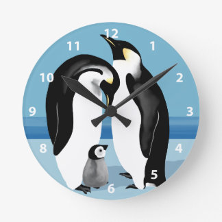 Emperor Penguin Clock