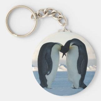 Emperor Penguin Courtship Basic Round Button Keychain