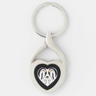 Emperor Penguin Family Love Heart Keychain