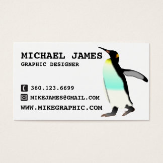 emperor penguin generic business card template