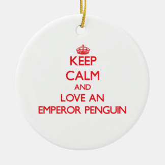 Emperor Penguin Christmas Tree Ornaments