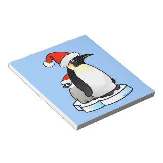 Emperor Penguin Santa Memo Pad