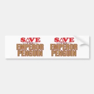 Emperor Penguin Save Bumper Sticker