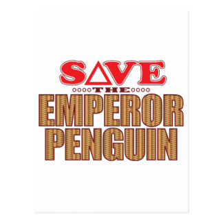 Emperor Penguin Save Postcard