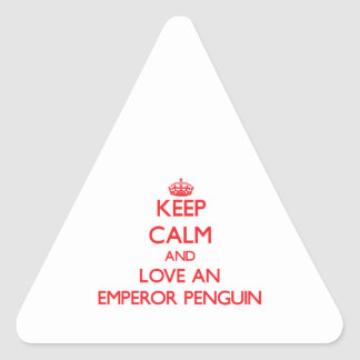 Emperor Penguin Triangle Sticker