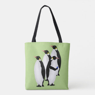 Emperor Penguin Using A Mobile Device Tote Bag