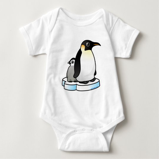 Emperor Penguin with Chick Baby Bodysuit