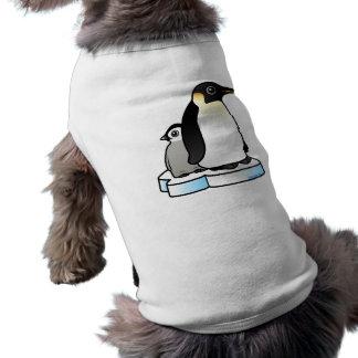 Emperor Penguin with Chick Doggie Tshirt