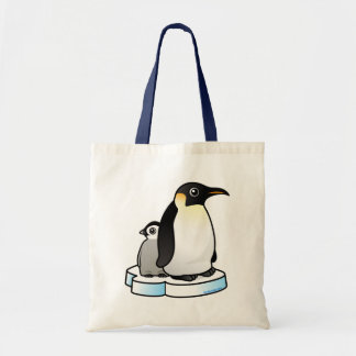 Emperor Penguin with Chick Tote Bag