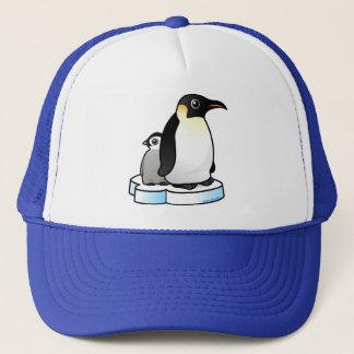 Emperor Penguin with Chick Trucker Hat