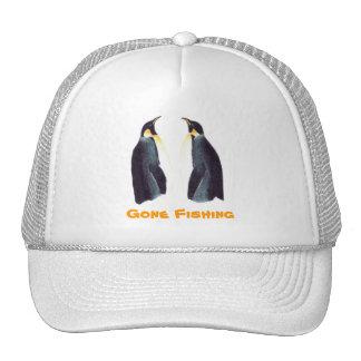 Emperor Penguins Gone Fishing Cap Trucker Hats