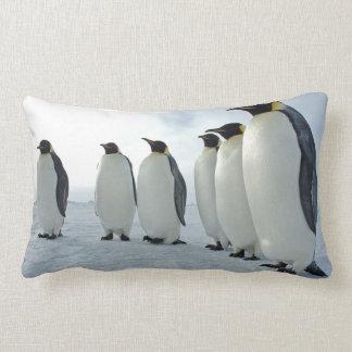 Emperor Penguins Lumbar Pillow