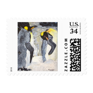 Emperor Penguins on Ice Postage