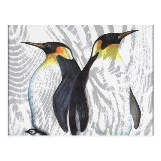 Emperor Penguins Postcard