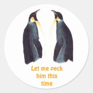 Emperor Penguins Round Stickers