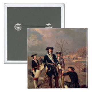 Emperor Peter the Great  at Work 2 Inch Square Button
