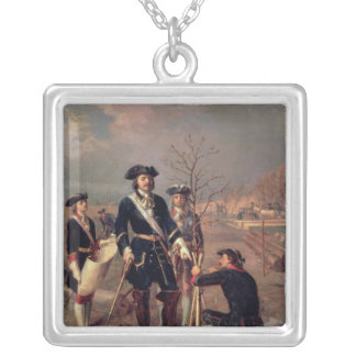Emperor Peter the Great  at Work Silver Plated Necklace