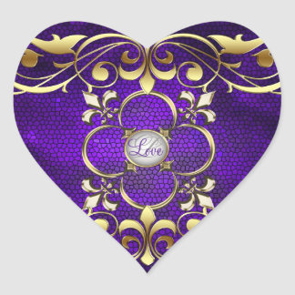 Emperor Purple Heart Stained Glass Love Sticker