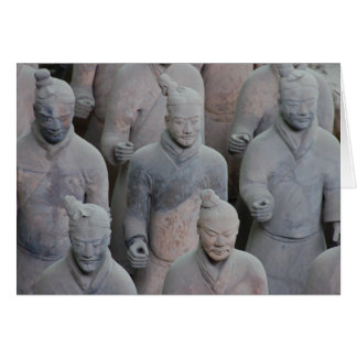 Emperor Qin's terracotta army Xian China Greeting Card