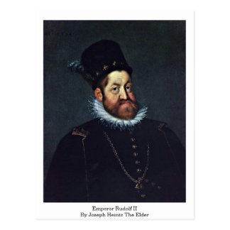 Emperor Rudolf Ii By Joseph Heintz The Elder Postcard