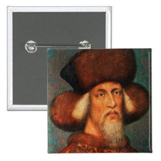 Emperor Sigismund , 1433 2 Inch Square Button