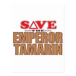 Emperor Tamarin Save Postcard