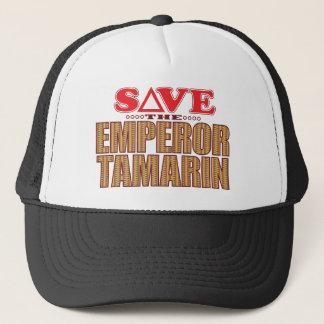 Emperor Tamarin Save Trucker Hat