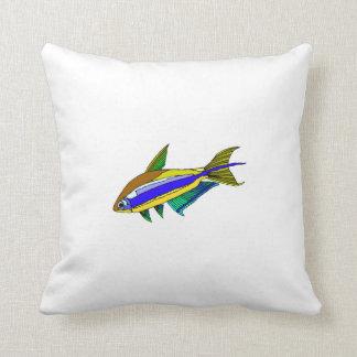 Emperor Tetra Fish Throw Pillows