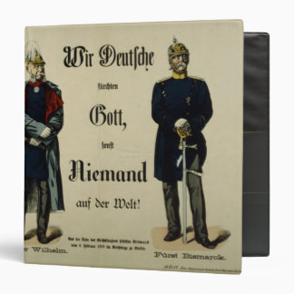Emperor Wilhelm I and Prince Bismarck 3 Ring Binder