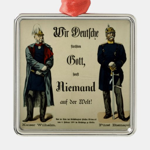 Emperor Wilhelm I and Prince Bismarck Ornament