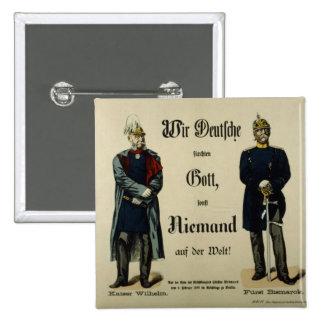 Emperor Wilhelm I and Prince Bismarck Pinback Button