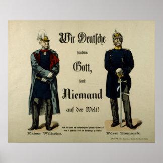 Emperor Wilhelm I and Prince Bismarck Posters