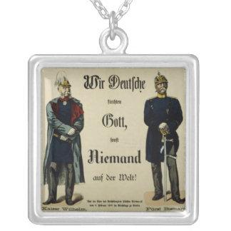 Emperor Wilhelm I and Prince Bismarck Silver Plated Necklace