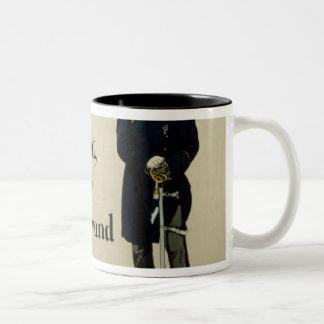 Emperor Wilhelm I and Prince Bismarck Two-Tone Coffee Mug