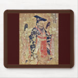 Emperor Wu Ti Of The Late Chou Dynasty By Yen Li Mouse Pad