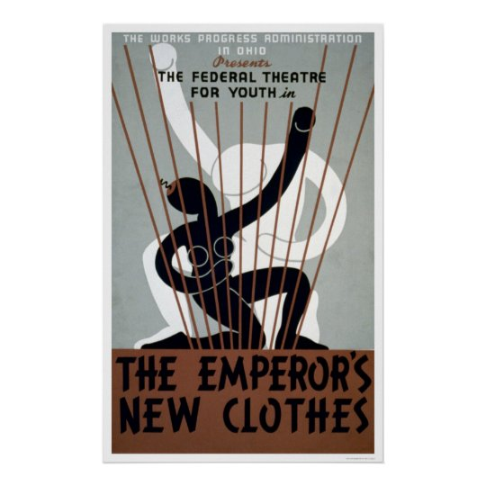 Emperors New Clothes 1937 WPA Poster