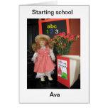 empezar la escuela tarjeta de felicitación