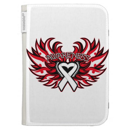 Emphysema Awareness Heart Wings Kindle 3G Covers