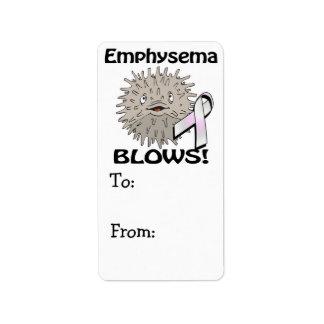 Emphysema Blows Awareness Design Label