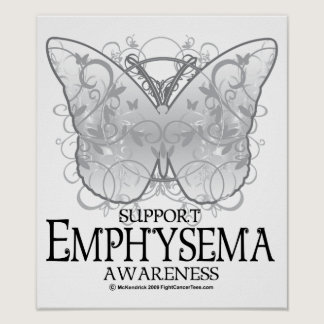 Emphysema Butterfly Poster