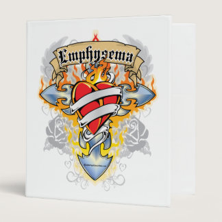 Emphysema Cross & Heart 3 Ring Binder