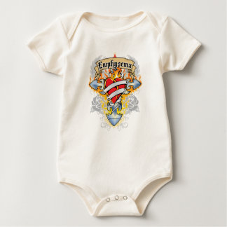 Emphysema Cross & Heart Baby Bodysuit