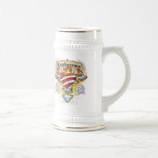 Emphysema Cross & Heart Beer Stein