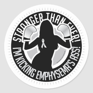 Emphysema Stronger Than Ever Classic Round Sticker