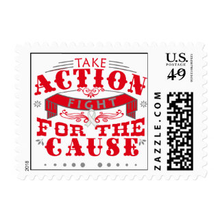 Emphysema Take Action Fight For The Cause Stamp